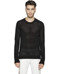 Diesel Black Gold Loose Knit Cotton Blend Sweater - Lyst