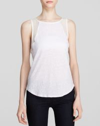 Sanctuary Sleeveless Sheer Panel Top - Lyst