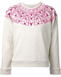 Sea Embroidered Sweatshirt - Lyst