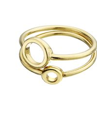 Whistles - Circle Stacked Ring - Lyst