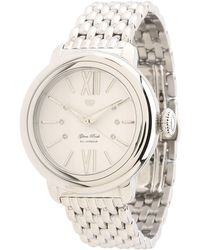 Glam Rock - 40mm Stainless Steel Watch with Diamond Indexes and 7link Bracelet - Lyst