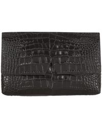 Vince - Signature Croc Clutch Bag - Lyst