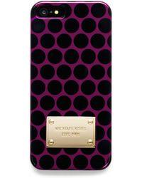 MICHAEL Michael Kors Dot Print Iphone 5 Case - Lyst
