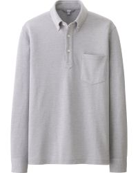 Uniqlo Men Dry Long Sleeve Polo Shirt - Lyst