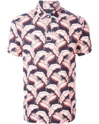 Marc Jacobs 'Palm Beach' Printed Polo Shirt multicolor - Lyst