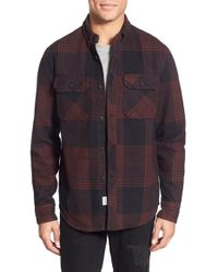 The Hundreds - 'town' Water Resistant Plaid Flannel Shirt - Lyst