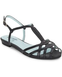 Seychelles Can'T Trust Myself Leather Sandals black - Lyst