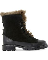 Dune | Raleigh Faux-fur Lined Suede Boots | Lyst