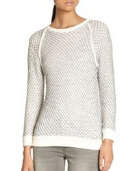 Marc By Marc Jacobs Jina Metallic Merino Wool Sweater - Lyst