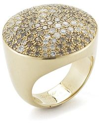 Cartier Pre-owned 18ky Gold and Diamond Nouvelle Vague Ring - Lyst