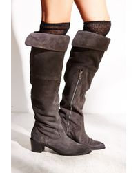Report Justeen Suede Tall Boot - Lyst