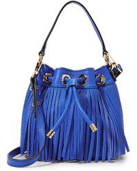 MILLY - Essex Fringe Mini Bucket Bag - Lyst