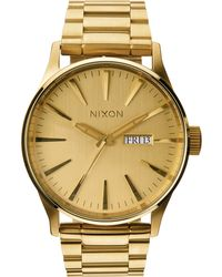 Nixon | Sentry Stainless Steel Watch | Lyst