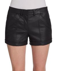 French connection Albany Faux Leather Shorts - Lyst