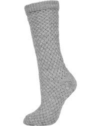 Topshop Basket Weave Slipper Socks - Lyst