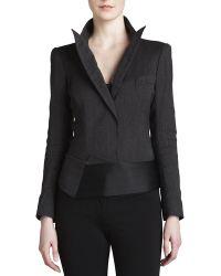Donna Karan New York Pinstripe Bodysuit Jacket - Lyst