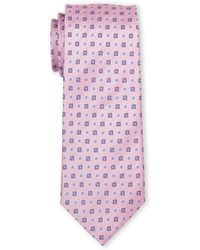 English Laundry - Pink Printed Silk Tie - Lyst