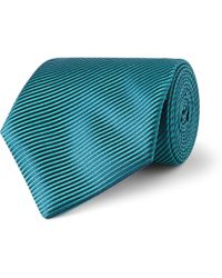 Charvet Diagonally Striped Silk Tie - Lyst