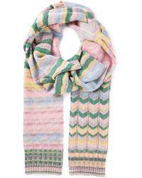 Missoni Zig Zag Crochet Lurex Scarf - Lyst