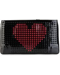 Christian Louboutin - Loubiposh Patent-Leather Spike Pouch - Lyst