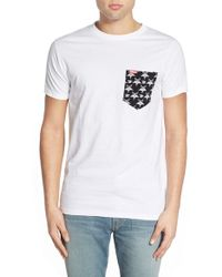 Ames Bros - . 'black Meddle' Pocket T-shirt - Lyst