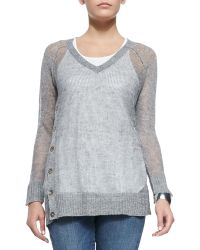 Eileen Fisher Fisher Project Rustic V-Neck Top - Lyst