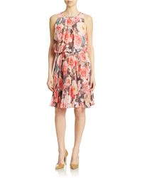 Maggy London - Floral Print Blouson Dress - Lyst