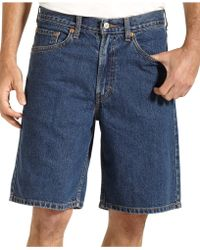 Levi's 550 Relaxed Fit Dark-Stonewash Jean Shorts - Lyst