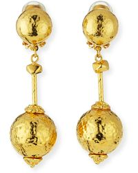Jose & Maria Barrera | Hammered Ball-drop Clip-on Earrings | Lyst
