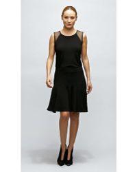 Komarov Knee Length Flared Skirt - Lyst
