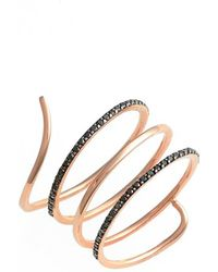 Kismet by Milka | 'lumiere' Diamond Coil Ring | Lyst