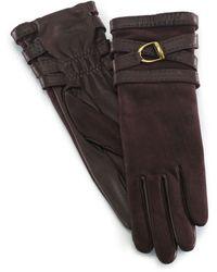 Ralph Lauren Equestrian Doublewrap Gloves - Lyst