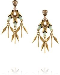 J.Crew Crystal Ray Goldplated Crystal Earrings - Lyst