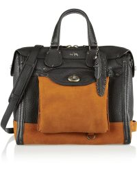 Coach Workwear Rhyder 33 Texturedleather and Suede Tote - Lyst