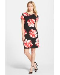 Vince Camuto 'Floral Bloom' Print Sheath Dress - Lyst
