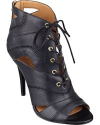 Nine West Acomplise Lace-Up Booties - Lyst