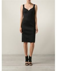 Lanvin Black Sweetheart Dress - Lyst