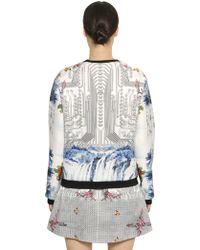 Piccione.piccione - Floral & Circuits Neoprene Sweatshirt - Lyst
