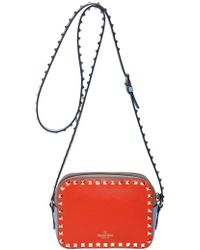 Valentino Rockstud Italian Pop Leather Bag - Lyst
