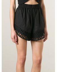 Carven Flared 'Batiste' Shorts - Lyst