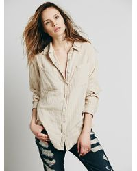 Free People Double Cloth Boyfriend Tunic - Lyst