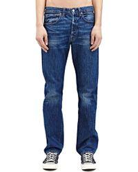 Levi's New Season - Levi'S Vintage Mens Straight Fit 1947 501 Jacob Raw Washed Selvedge Denim Jeans - Lyst