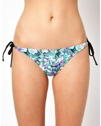 Oasis Floral Print Bikini Bottom - Lyst