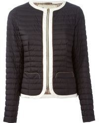 Herno Contrasting Trim Padded Jacket - Lyst