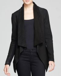 DKNY Pure Lamb Leather Drape Jacket - Lyst