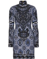 Emilio Pucci Jacquard Mohair and Wool Blend Dress - Lyst