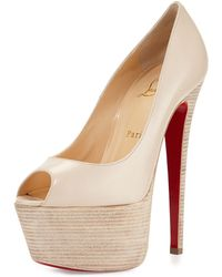 Christian Louboutin Jamie Platform Red Sole Pump - Lyst