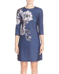 Taylor Dresses - Floral Print Jersey A-line Dress - Lyst
