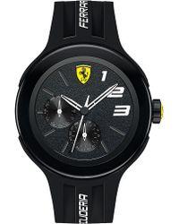 Ferrari - Mens Scuderia Fxx Black Stainless Steel Silicone Strap Watch - Lyst