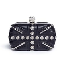 Alexander McQueen | Union Jack Skull Leather Box Clutch | Lyst